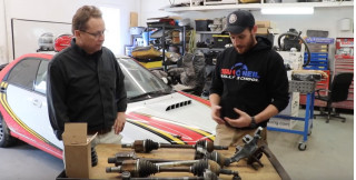 Team O'Neil talks about racing drive shafts versus street car drive shafts