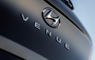 Teaser for 2020 Hyundai Venue debuting at 2019 New York auto show