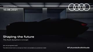 Teaser for Audi Sky Sphere concept debuting on August 10, 2021