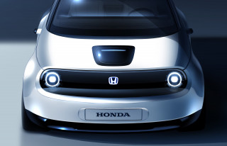 Teaser for Honda electric city car prototype debuting at 2019 Geneva auto show