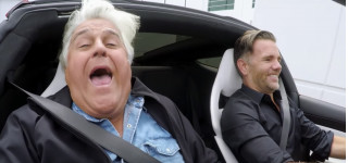 Jay Leno in 2020 Tesla Roadster