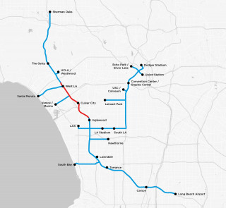 The Boring Company proposed tunnel map