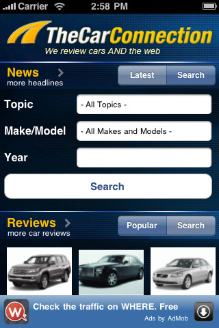 TheCarConnection app for iPhone and iPad