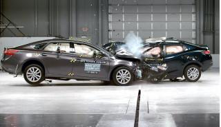 Toyota vehicles used in IIHS crash testing
