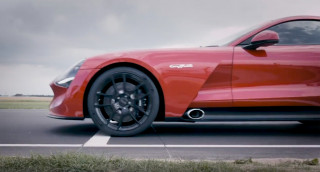 V-8-powered, carbon-constructed TVR Griffith takes to the track