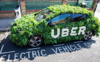 Uber to bank London surcharge toward electric vehicles for its drivers