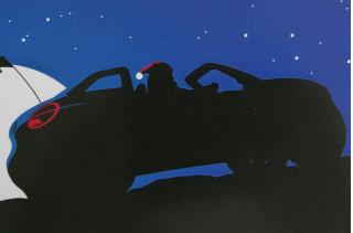 Volkswagen beach buggy teaser on corporate Christmas card