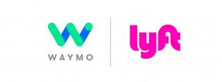 Waymo and Lyft logos