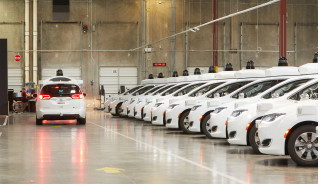 Waymo self-driving car depot in Chandler, Arizona