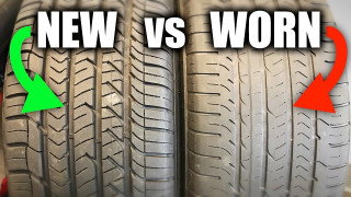What's the performance difference between new and used tires?